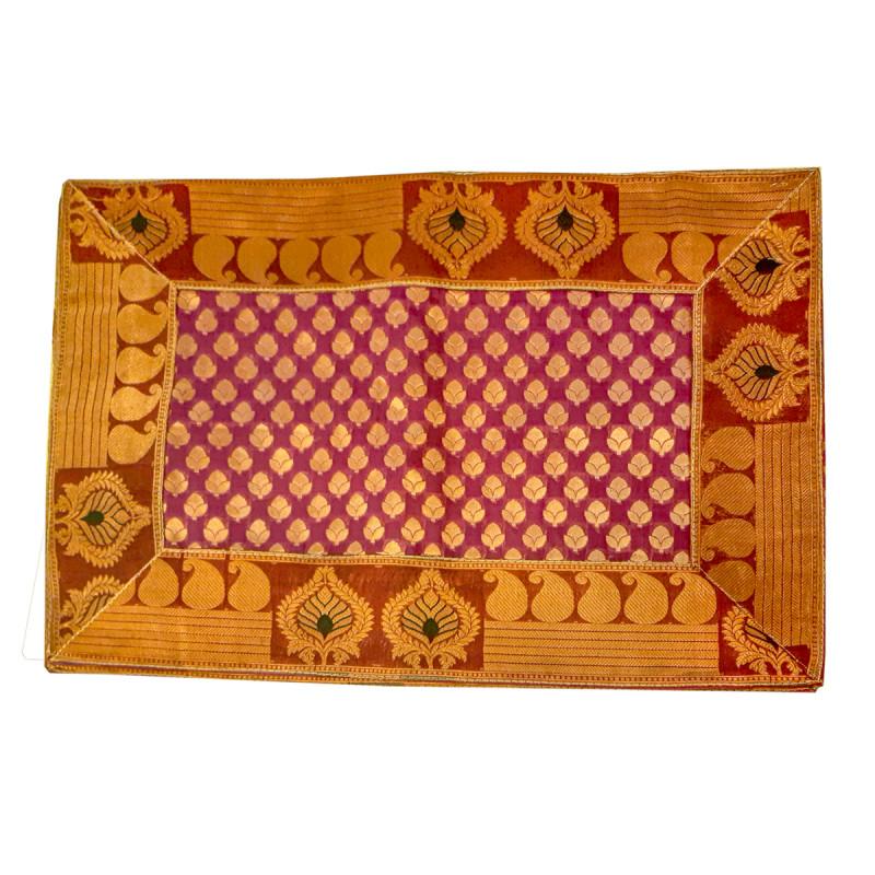 Silk Brocade Handwoven Mat Size 13x19 Inch