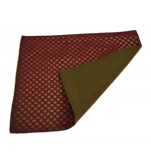 Brocade Handwoven Silk Cushion Cover Size 16x16 Inch