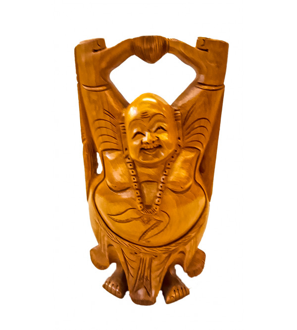 Kadamba wood Handcrafted Figure of Laughing Buddha
