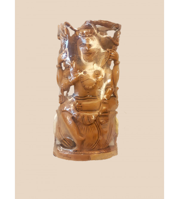 Sandalwood Handcrafted Carved Standing Figure of Lord Shiva