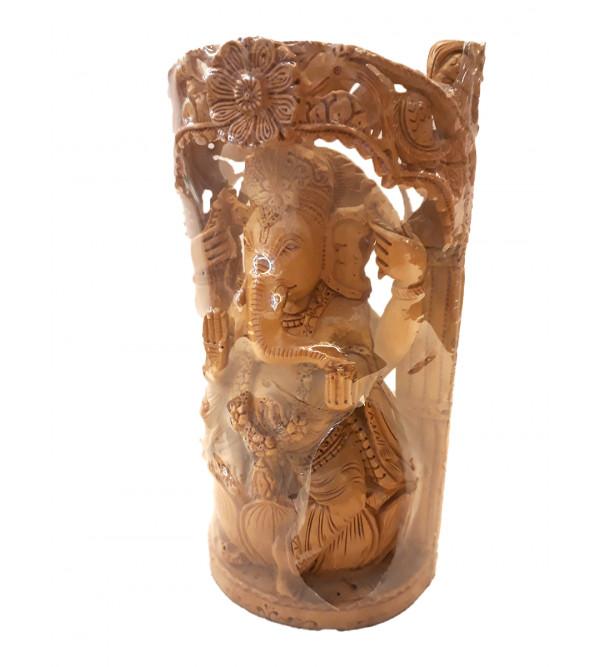 Wooden Figure Ganesh 8 Inch