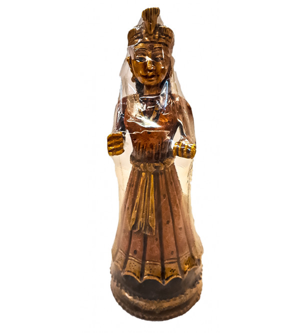 WOODEN PAINTED FIGURE 10 INCH