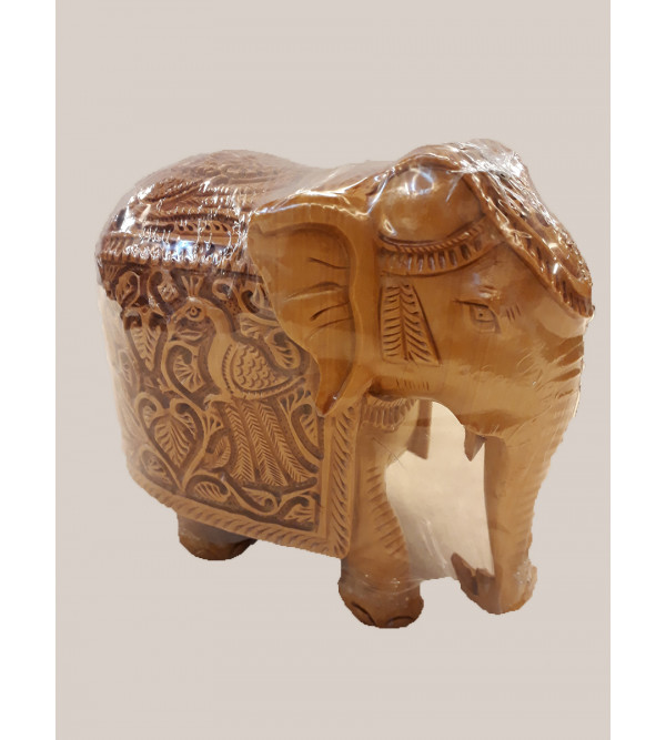 Kadamba Wood Handcrafted Carved Elephant