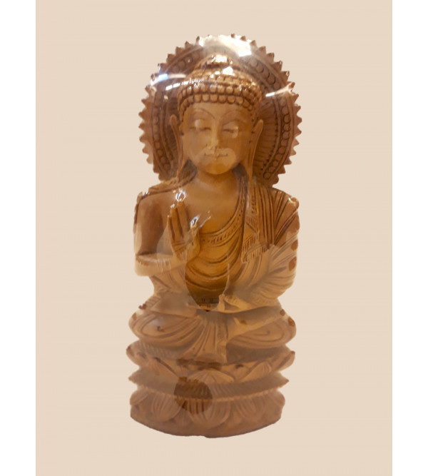 Sandalwood Handcrafted Carved Lord Buddha Figurine
