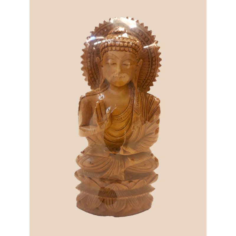 Sandalwood Handcrafted Carved Lord Buddha Figurine