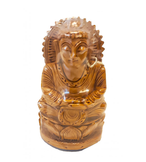 Kadamba Wood Handcrafted Carved Sitting Lord Buddha Figure