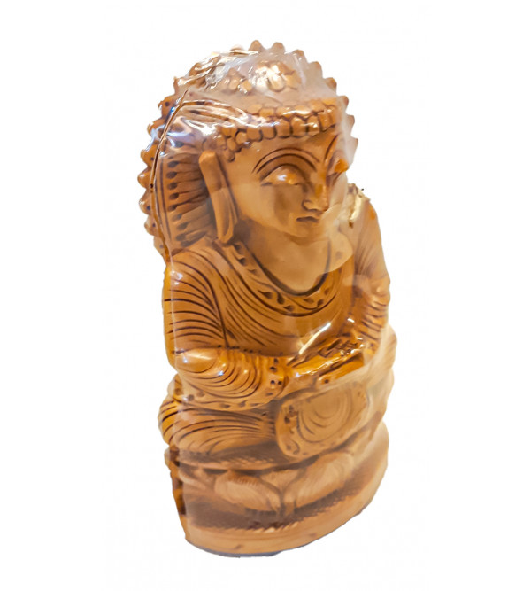 Kadamba Wood Handcrafted Carved Sitting Lord Buddha Figure