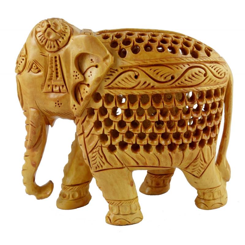 ELEPHANT JALI WORK KADAM WOOD 3 INCH
