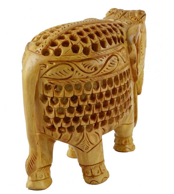 ELEPHANT JALI WORK KADAM WOOD 5 INCH
