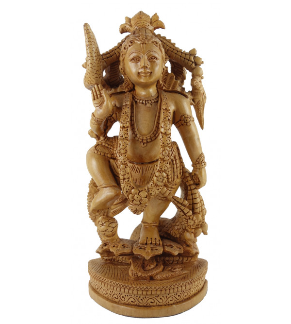 GOD FIGURE CARVED KADAM WOOD