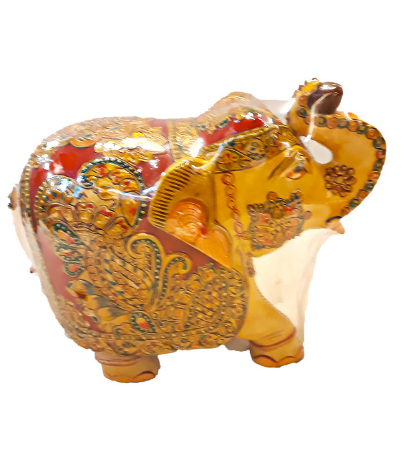 Kadamba wood Handcrafted and Hand painted Elephant