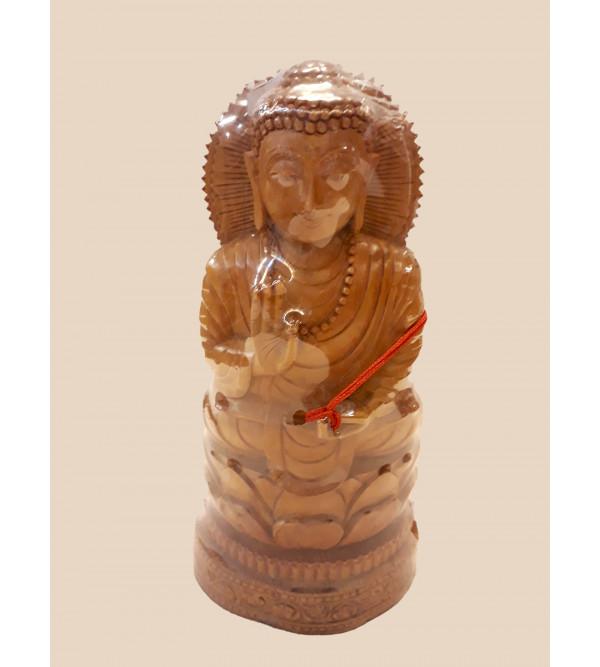Sandalwood Handcrafted Lord Buddha Figure