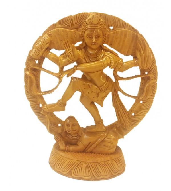 Kadamba Wood Handcrafted Carved Nataraja Figure