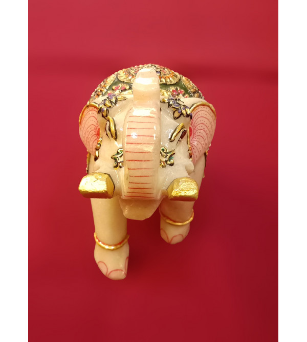Elephant Handcrafted With Pure Gold Leaf Work