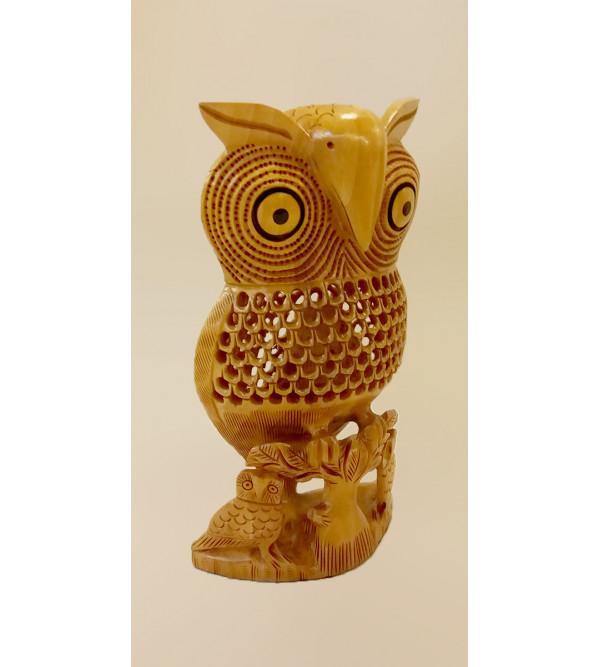 Kadamba Wood Handcrafted Carved Owl