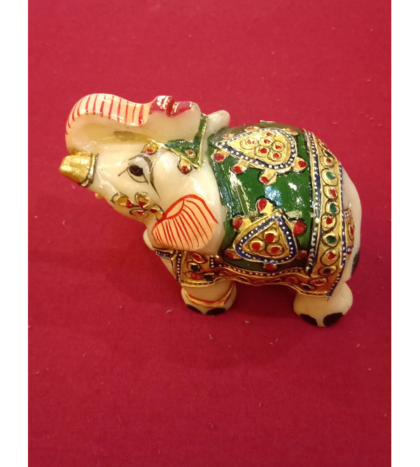 Elephant with pure gold work