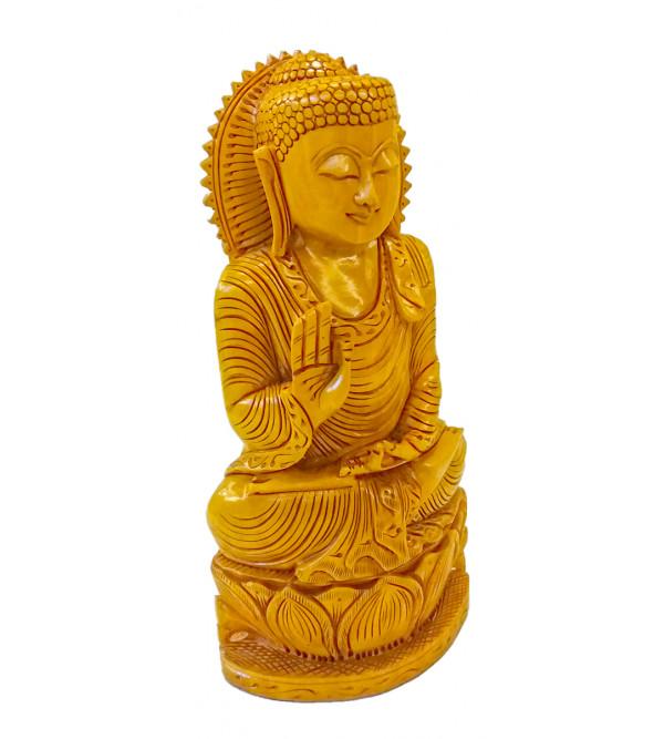 Buddha sitting Kadam wood 10 inches