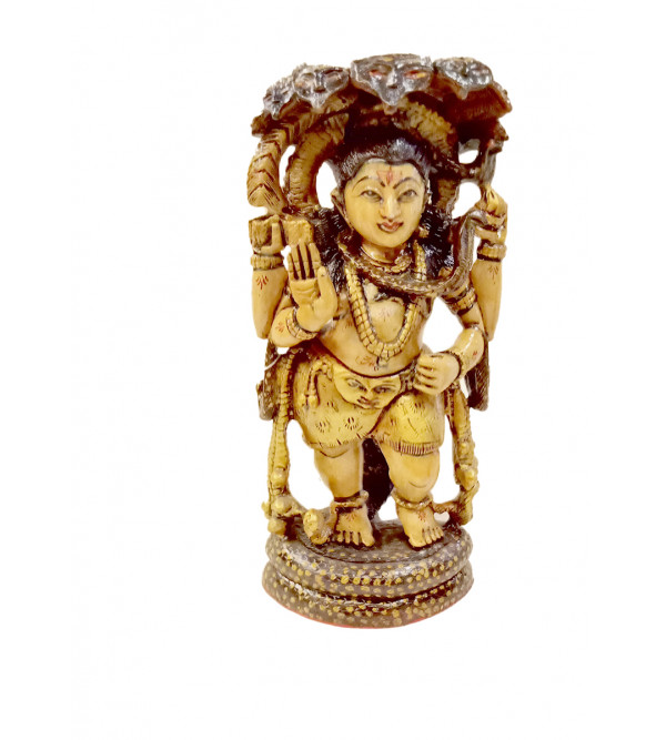 Shiva statue in wood 12 inch