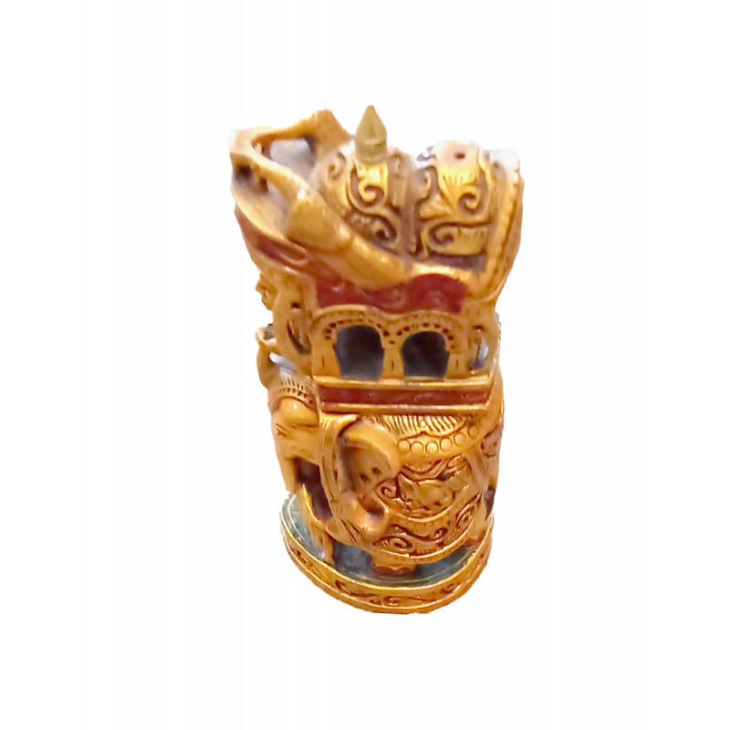 Kadamba Wood Handcrafted  and Hand Painted Ambari with Gold Work