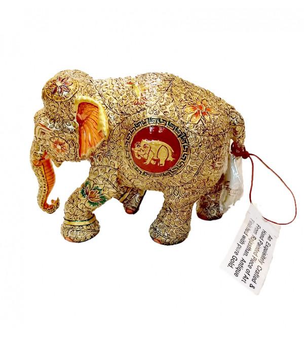 WOODEN ELEPHANT 4 inch