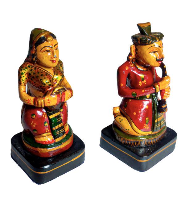 Kadamba Wood Handcrafted Figure of Set of Musicians