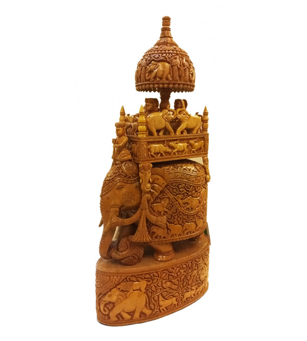 AMBARI CARVED SHIKAR KADAM WOOD 30 inch