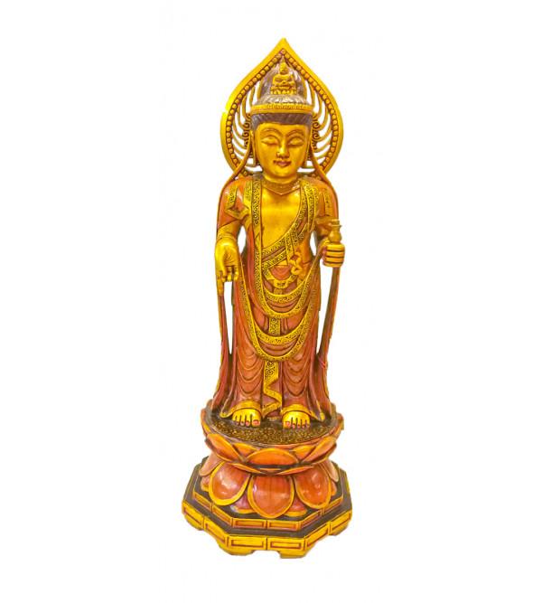 BUDDHA FIGURE STANDING.               PAINTED 19 INCH