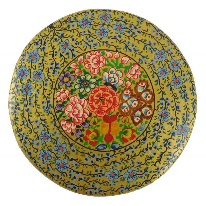 PAPER MACHE ROUND BOX 4 INCH ASSORTED COLOR AND DESIGNS