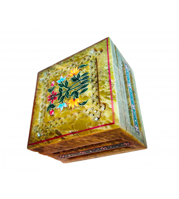 PTD Soap Stone Painted Box Size 5x5x3 Inch