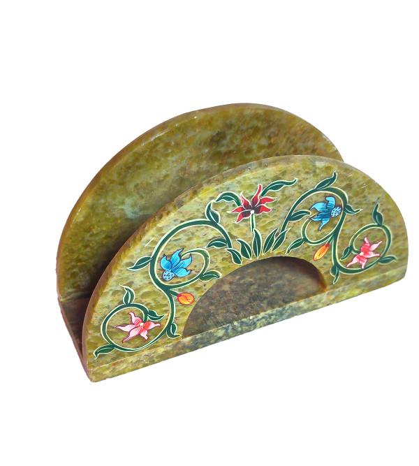 Soap Stone Painted Napkin Holder Size 4 Inch