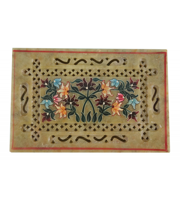 HANDICRAFT SOFT STONE PAINTED BOX 6X4X3 INCH