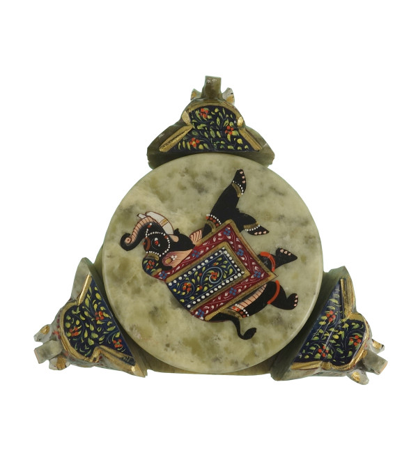 HANDICRAFT SOFT STONE PAINTED COASTER SET