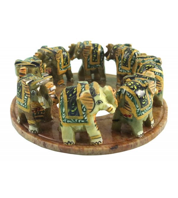 HANDICRAFT PAINTED ELEPHANT RING 4 INCH