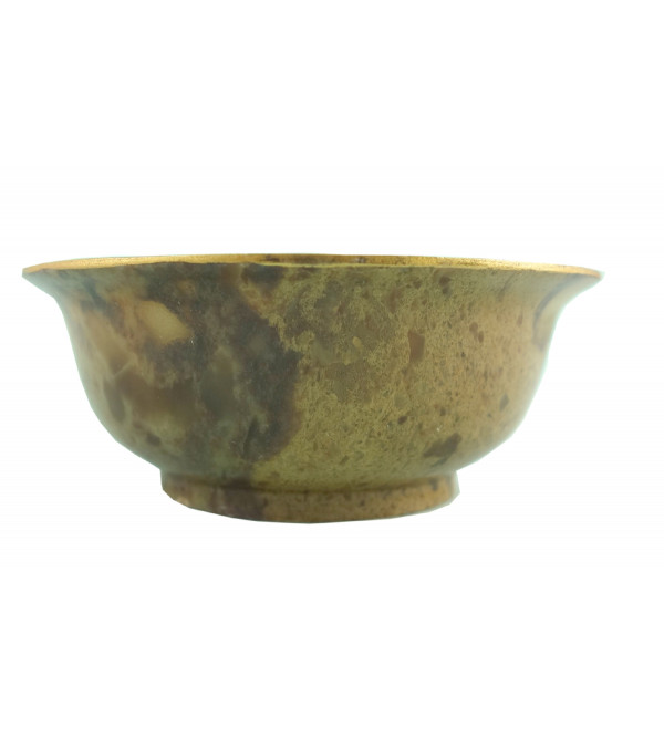HANDICRAFT SOFT STONE PAINTED BOWL 4 INCH