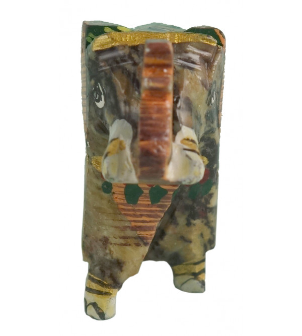 HANDICRAFT SOFT STONE PAINTED ELEPHANT 1.5 INCH