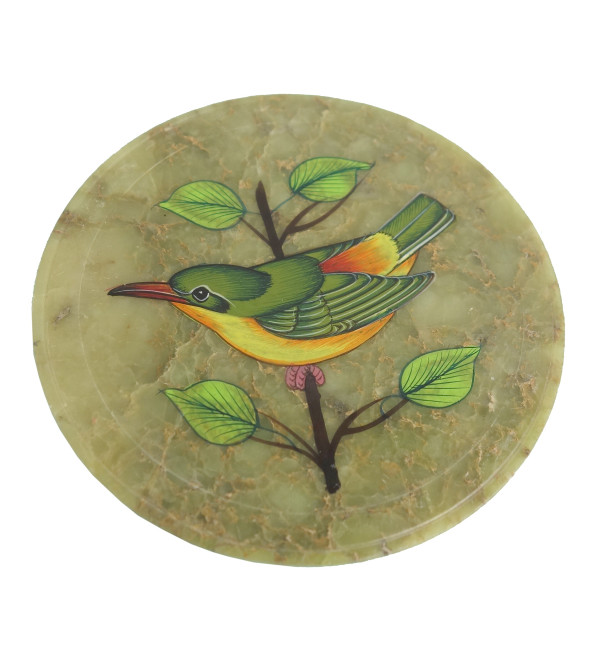 HANDICRAFT COASTER SOAP STONE  3.5 Inch