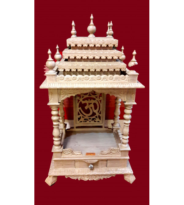 Temple With Tile Work Teak Wood