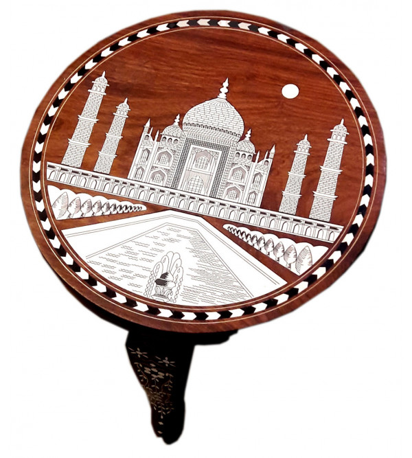 INLAY ROUND TABLE TAJ DSG S-12x12x12 inch.
