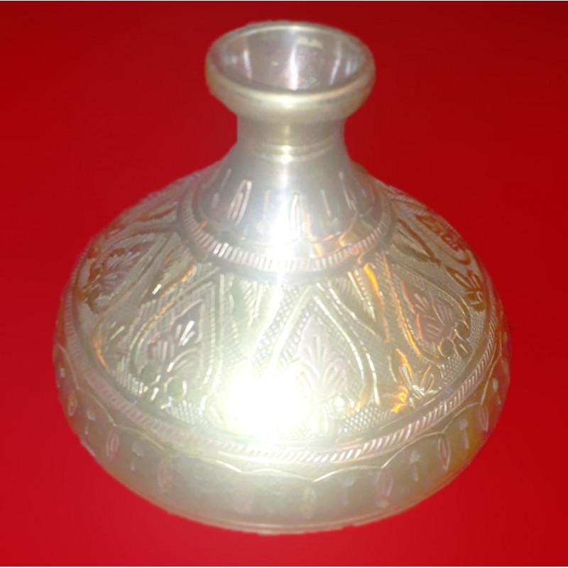 HANDICRAFT Flower Vase Brass Two Tone 4 INCH