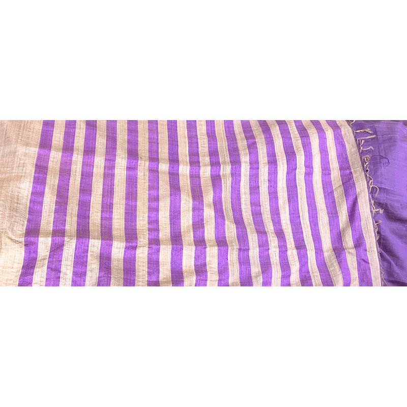 Tussar Silk Handwoven Saree With Blouse