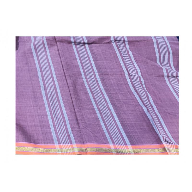 Cotton saree zari border with blouse