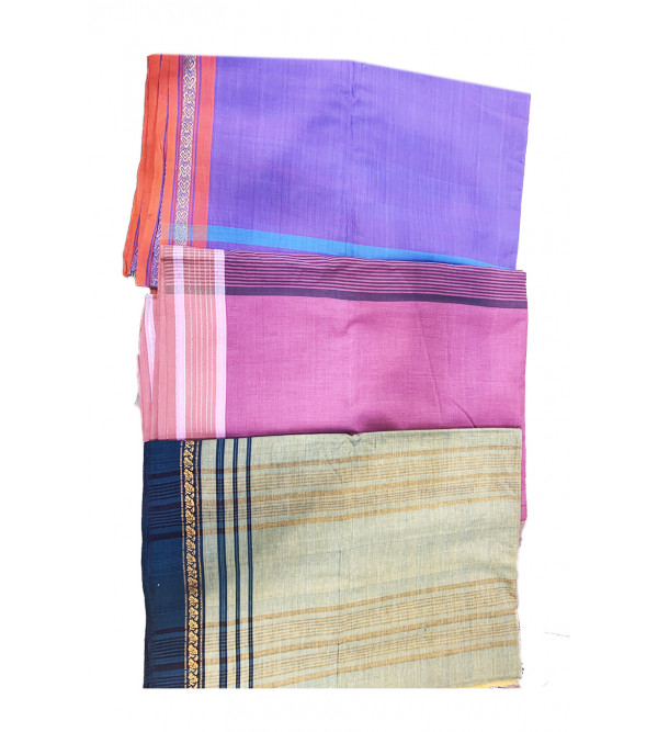 Cotton Handwoven Saree With Zari Border With Blouse