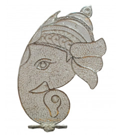 HANDICRAFT 92.5 PURITY SILVER GANESH HEAD FILIGREE WORK