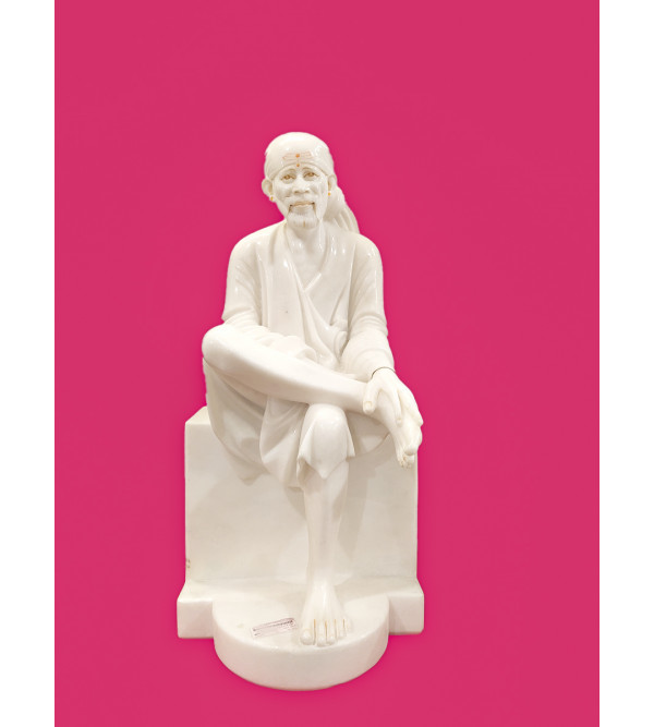 Marble Carved Sai Baba Statue Size 54 Inch