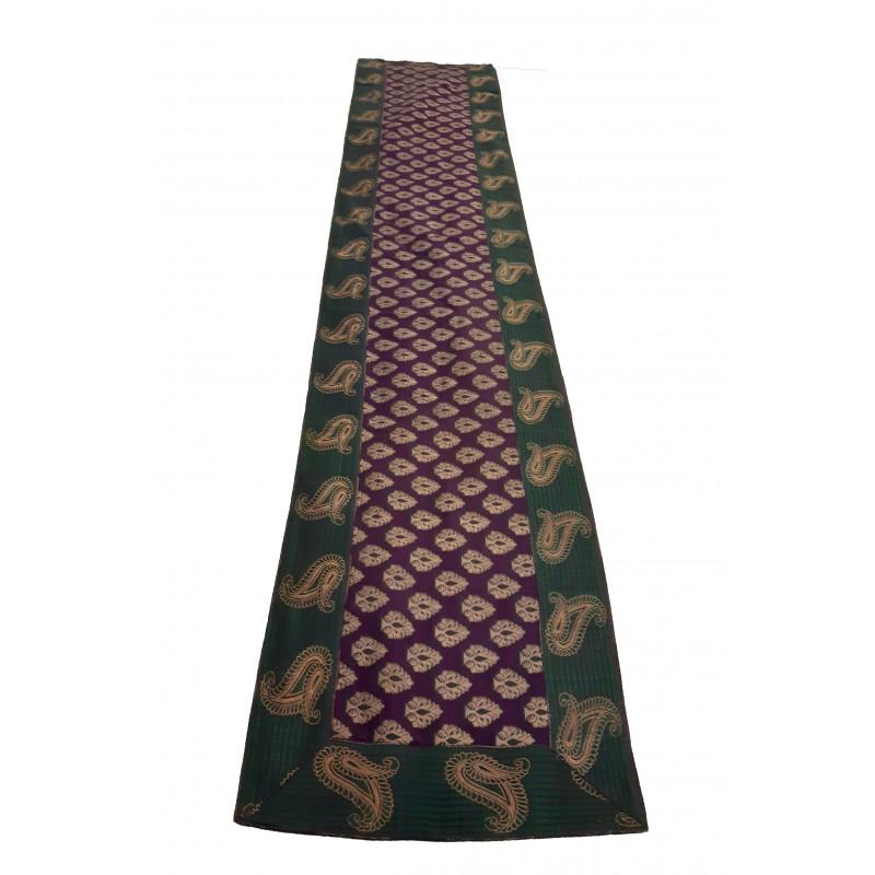 Silk Brocade Handwoven Runner Size 13x72 Inch