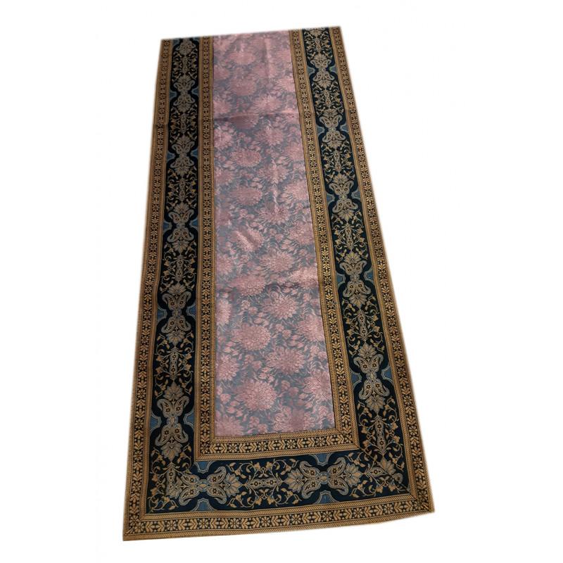 Silk Brocade Handwoven Runner Size 13x45 Inch