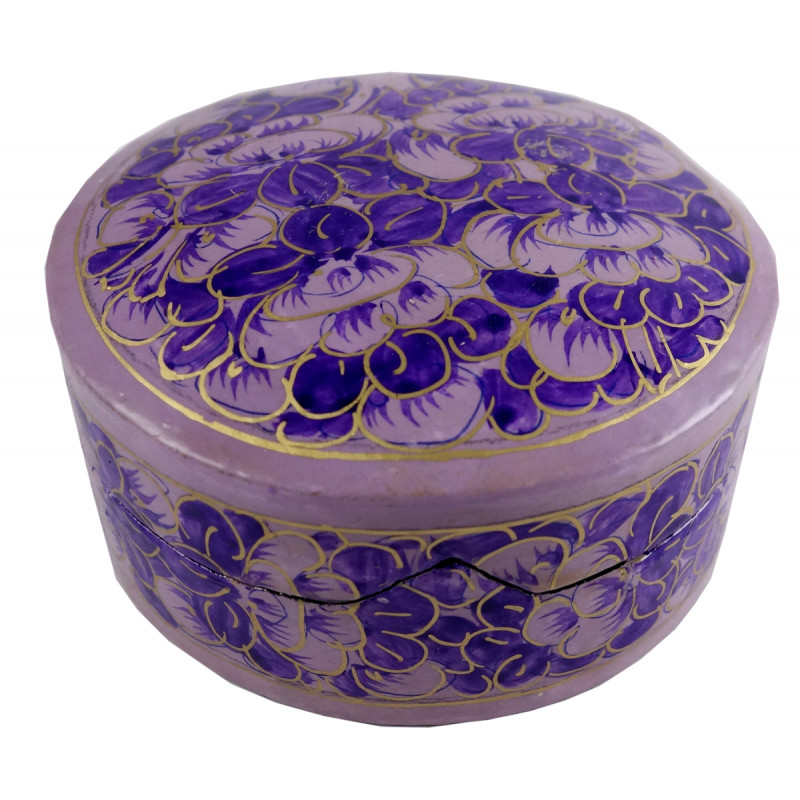 HANDICRAFT BOX 3 INCH ASSORTED DESIGNS PAPIER MACHE