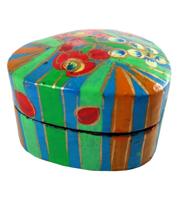 HANDICRAFT PILL BOX 2 INCH  ASSORTED PAPIER MACHE BOX