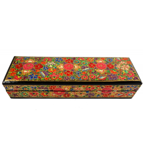 HANDICRAFT PAPER MACHIE PENCIL BOX 8X2. CM ASSORTED DESIGN