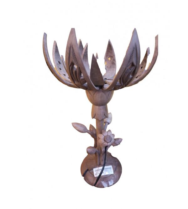 Walnut Wood Table Lamp